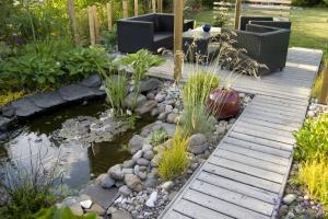 Holzsteg, Holzterasse, Garten Holz